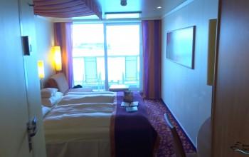 Eine Balkonkabine an Bord von AIDA blu