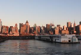 Die Hafenausfahrt aus New York an Bord von AIDA diva